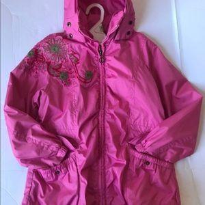 Pampolina Hooded Girls Pink Jacket Size 116